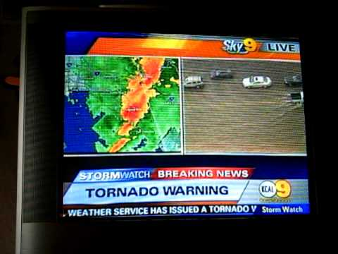 TORNADO WARNING in Orange County, California!!!