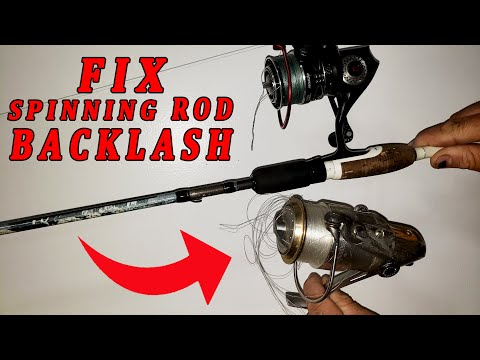 Simple Way To Undo A Backlash In A Spinning Reel!