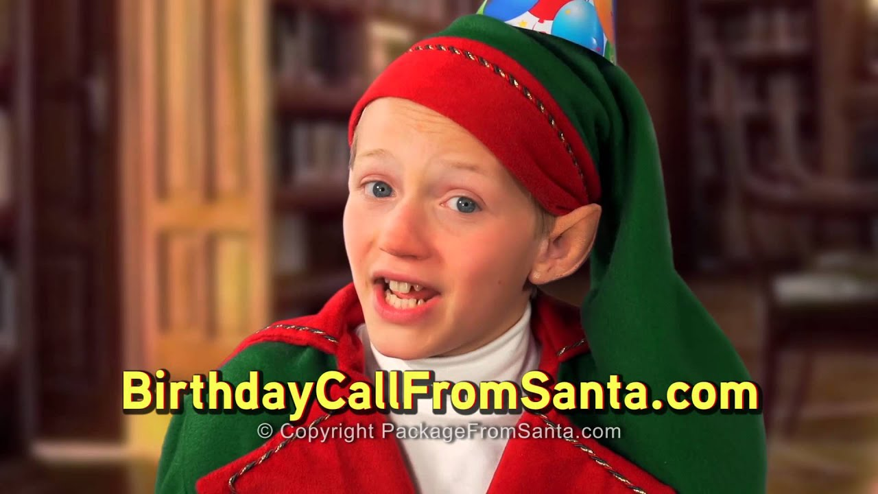 Free Personalized Birthday Phone Call From Santa! - Letters From