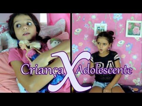 Criança vs. adolescente - Isabela Vaidosa