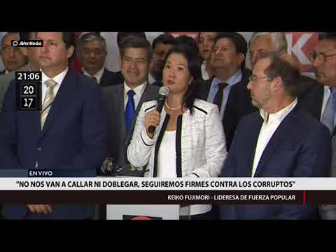 Allanamiento a Fuerza Popular: Keiko Fujimori en conferencia de prensa