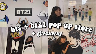 bt21 + bts pop up store LONDON vlog | giveaway ੈ♡˳
