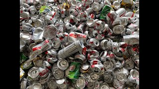 Massive Can Meltdown - How Much Pure Aluminum Is In 500 Cans - Is It Worth Melting Aluminum Cans