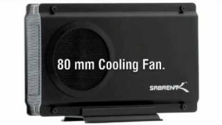 SABRENT USB 2.0/E-SATA TO 3.5″ IDE OR SATA/SATA II ALUMINUM HARD DRIVE ENCLOSURE WITH COOLING FAN