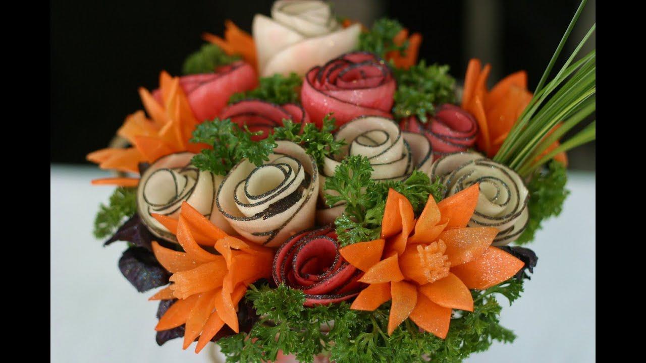 Оформление нарезки красивые фото  Карвинг из овощей и
