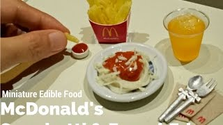 DIY Mini McDonald's spaghetti & French Fries Edible (miniature cooking) (mini food) (ASMR)