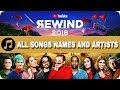 Song list Youtube rewind 2018  | Youtube rewind 2018 Songs (names and artists)