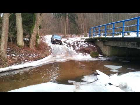 Jeep icy creek crossing