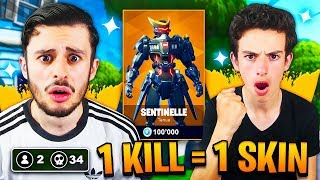 1 KILL - 1 SKIN SAISON 9 FREE FOR MY PETIT FREE ON FORTNITE! I'M CRYING... 😪