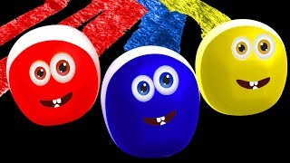 Reon The Funny Crayon | Fun Colors For Toddlers and Funny Cartoons For Children | Cartoon Candy