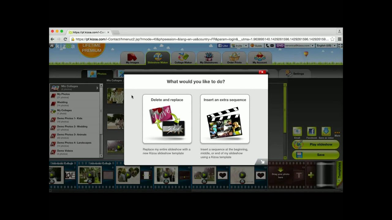 Download How to modify an existing video - Kizoa tutorial