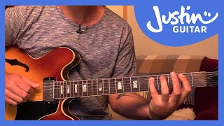 Jazz Walking Bass on Autumn Leaves sound-alike (Guitar Lesson JA-523)