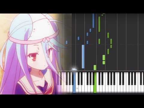 No Game No Life op - This Game [Full] (Piano Synthesia + Sheet+ Midi)