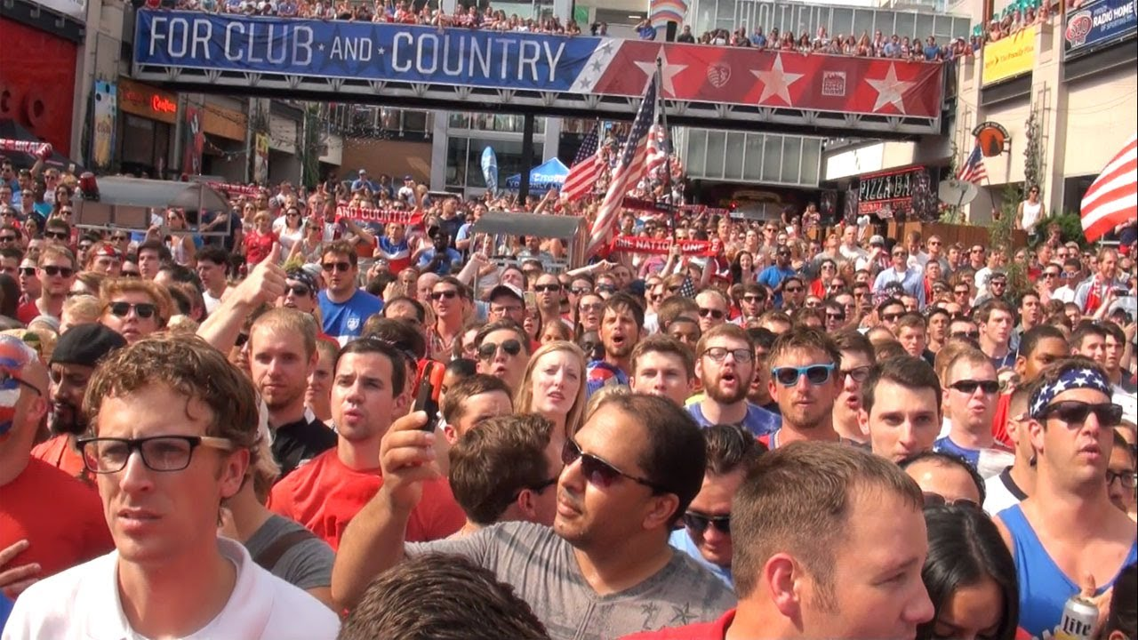 Kansas city sings USA national anthem with pride world cup 2014