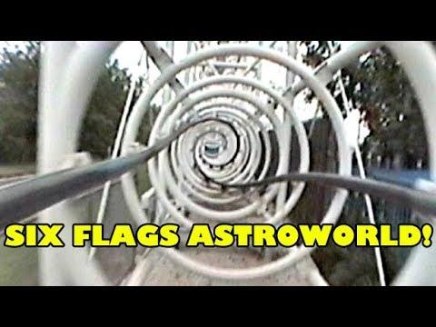Retro Ultra Twister Six Flags Astroworld Roller Coaster POV Footage! Houston, Texas 1999