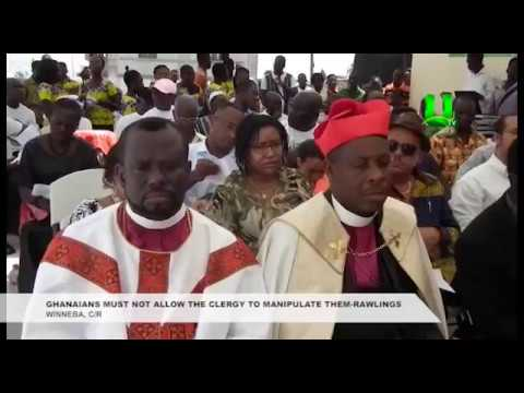 Ghanaians must not allow the clergy to manipulate them - Rawlings