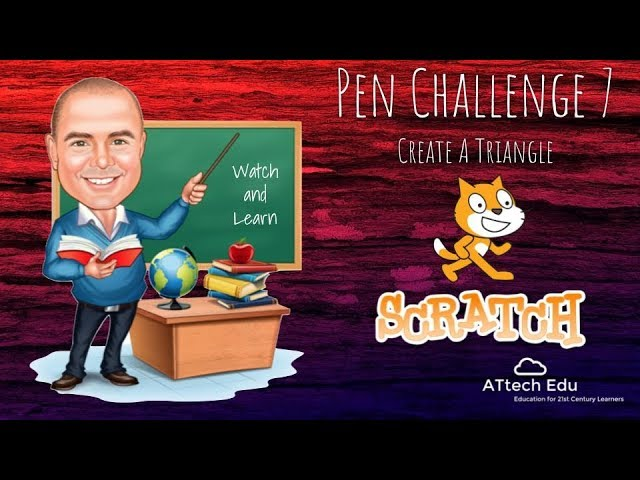 Pen Challenge 7 - Scratch Pen Challenges - Coding with Scratch - change pattern shapes - triangles