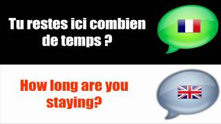 [SMALL TALK IN FRENCH]  # HOW LONG ARE YOU STAYING