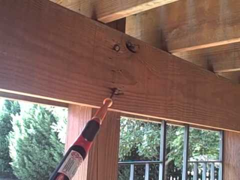 Dangerous Incorrect Built Patio Deck Found by Home Inspector Nashville wmv