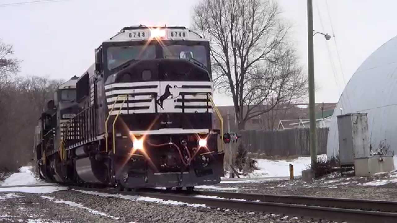 NS 16E with Ex Conrail 6748 SD60i on CF&E Pennsy Railroad