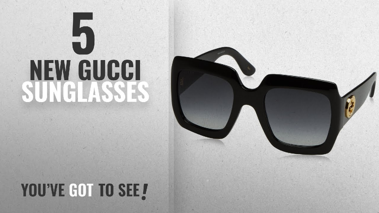 094d6979ce6 Top 10 Gucci Sunglasses   Winter 2018    Gucci 54MM Oversized Square ...