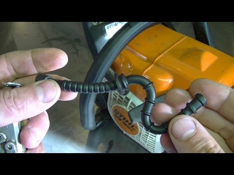 stihl fuel filter how to check a stihl fuel line for wear   tear youtube  stihl fuel line for wear   tear