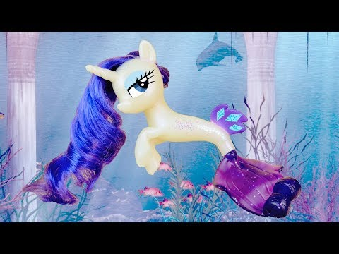 MERMAID RARITY! My Little Pony the Movie Sea Pony Rarity Seapony Toy Review | MLP Fever
