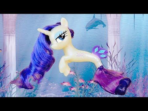 MERMAID RARITY! My Little Pony the Movie Sea Pony Rarity Seapony Toy Review | MLP Fever