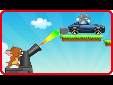 Tom and Jerry Bombing Tom Cat Shooting Game Walkthrough Levels 1-8