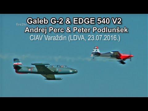 Galeb G-2 (Andrej Perc)-EDGE 540 V2 (Peter Podlunšek) CIAV Varaždin (LDVA, 23.07.2016.)