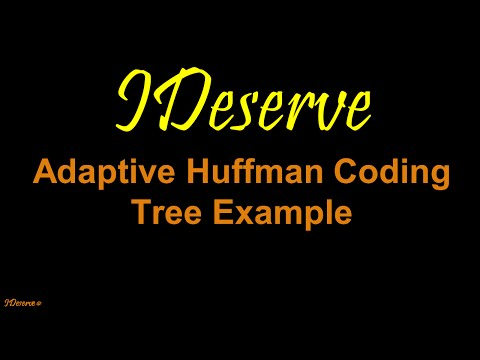 Adaptive Huffman Coding Tree Example