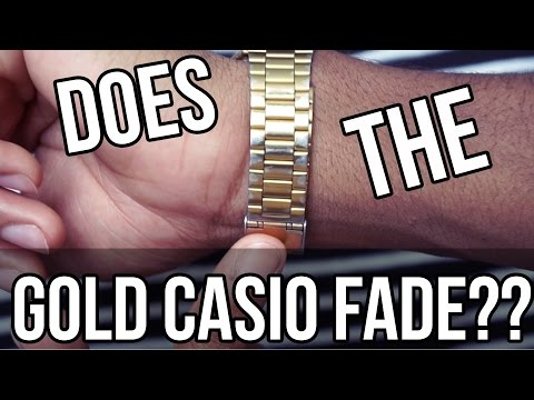 Does the Gold Casio Watch Fade?? | Update video