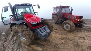 7 Tons Loaded With Water Bounty Out Mountain Trip  | Massey Ferguson 5440 - Tumor 7065 Часть -1