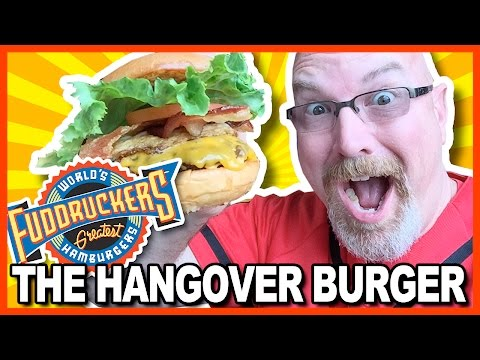"Fuddruckers ""The Hangover Burger"" & Chocolate Shake in Galveston, Texas   KBDProductionsTV"