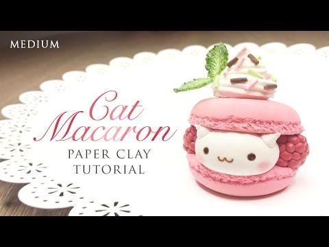 DIY How To Make Macaron Cat – Kawaii Clay Tutorial