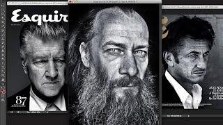 Ретушь мужского портрета в стиле журнала Эсквайр
