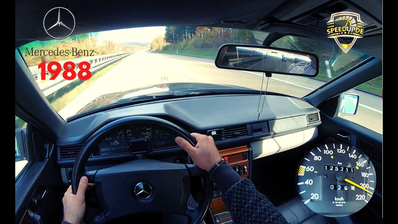 Mercedes Benz W124 300 CE 179 HP TOPSPEED ON GERMAN AUTOBAHN (NO LIMIT) by SpeedUpDE