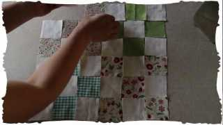 "Quilting Squares: Patchwork Tutorial. ""nine-patch"" Pattern. Old School."