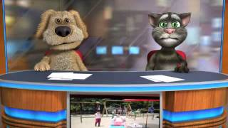Talking Tom & Ben News does gangnam style