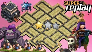 Th9 War Base 2018 Anti 2 Star With Replay Anti Lavaloon Anti Everything-Anti Valkyrie Anti 3 Star