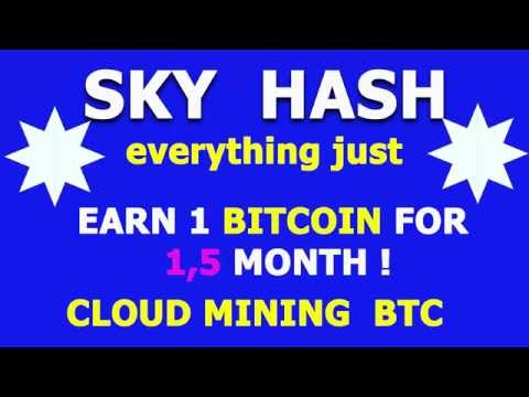 SKY HASH How To Earn 1 Bitcoin For 1,5 Month?