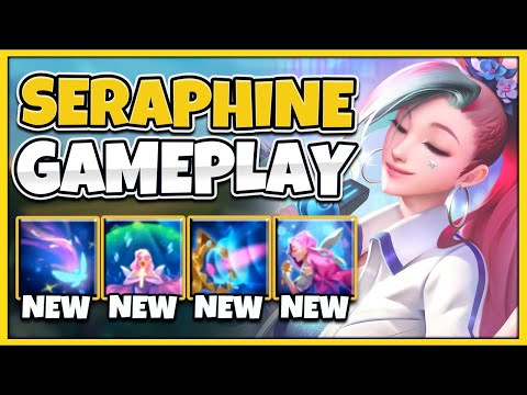 NEW CHAMPION SERAPHINE IS SONA 2.0?!! WORLDS FIRST GAMEPLAY! - League of Legends