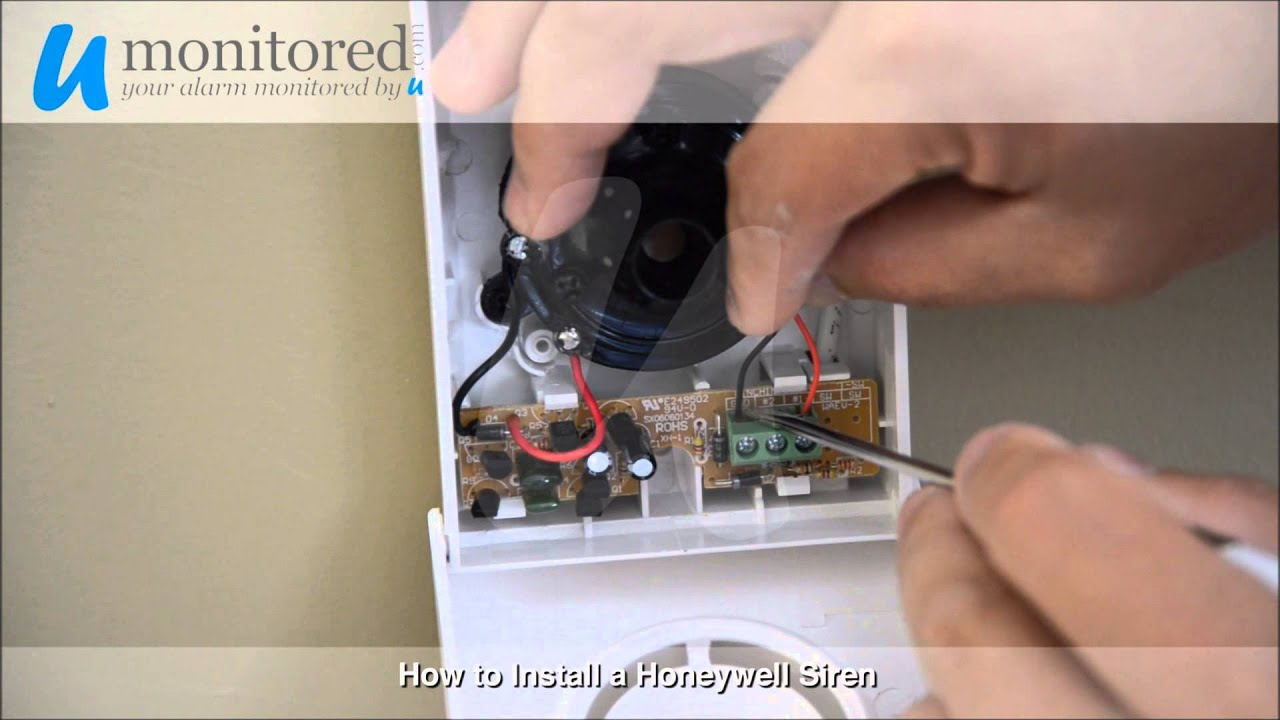 maxresdefault honeywell alarm siren installation youtube honeywell ag6 bell box wiring diagram at crackthecode.co