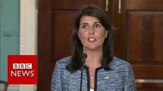 US envoy Nikki Haley says UN rights council 'a cesspool of political bias' - BBC News