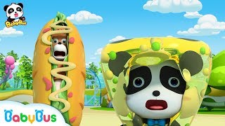 【New】Baby Panda is Attacked by Crazy Food Machine   Magical Chinese Characters   BabyBus