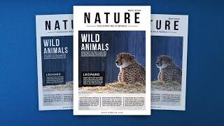 Wild Life Magazine Cover Desig…