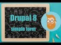 Drupal 8 Programatically created custom form.
