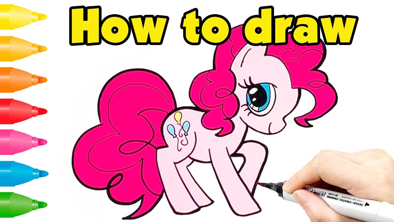 How to Draw My Little Pony Step by Step | Pinkie Pie Coloring Page ...