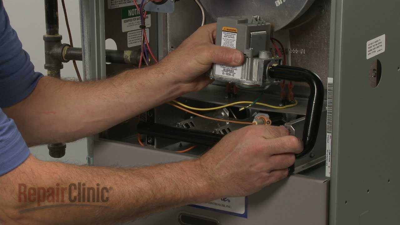 rheem furnace not heating replace gas valve 60 100394 03 youtube rh youtube com Ruud Silhouette Gas Furnace Parts ruud gas furnace wiring