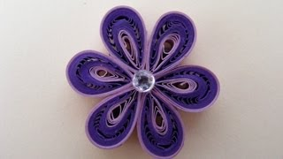 ✿ Quilling - Floare - Tutorial 3 - AidaCrafts